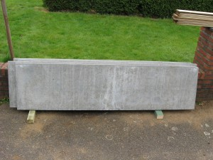 Betonplaten 2 m x 50 cm: 4 stuks