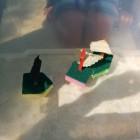 Knutselen: zeilbootjes maken