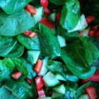 Recept: eendenborst met pittige salade